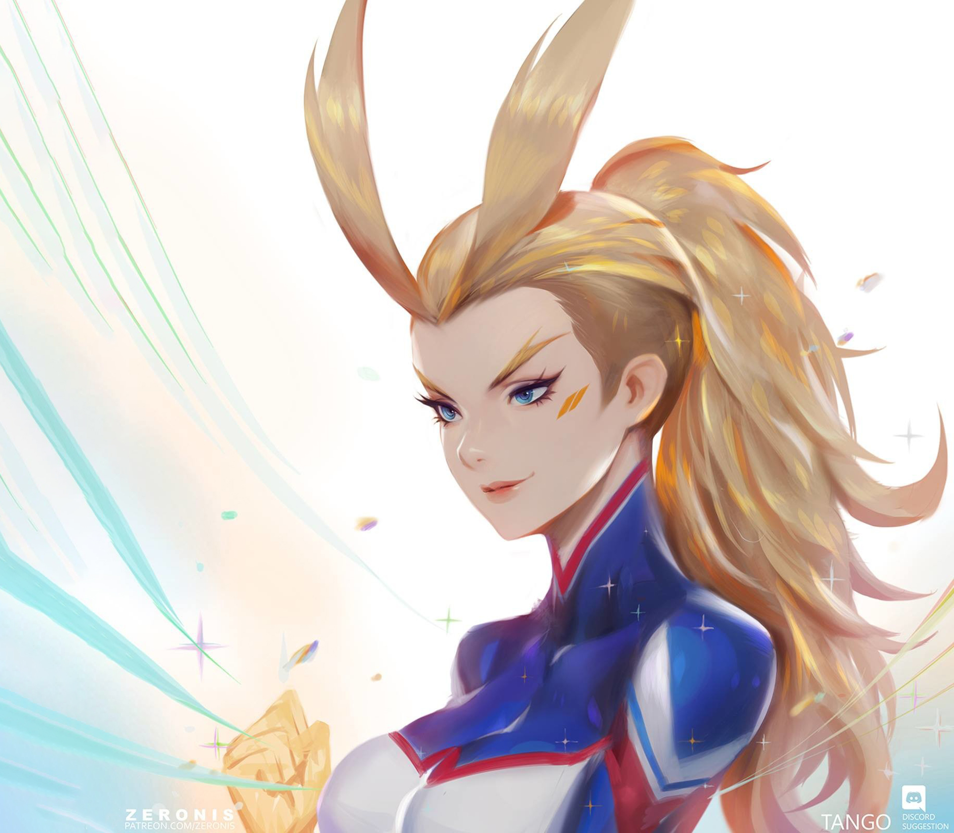 All Might Female Version Hd Wallpaper Background Image