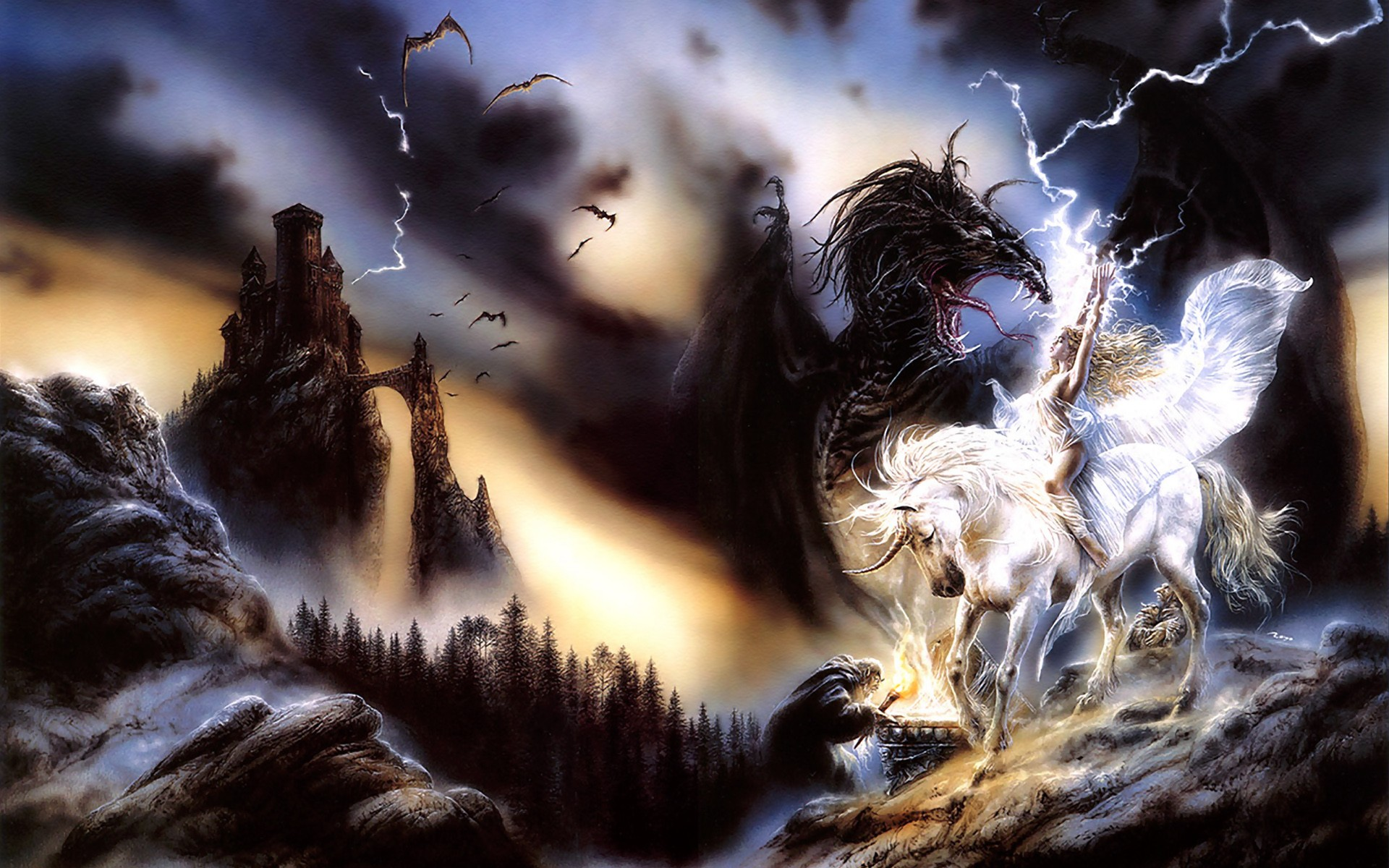 Fantasy - Unicorn  Luis Royo Loui Wallpaper