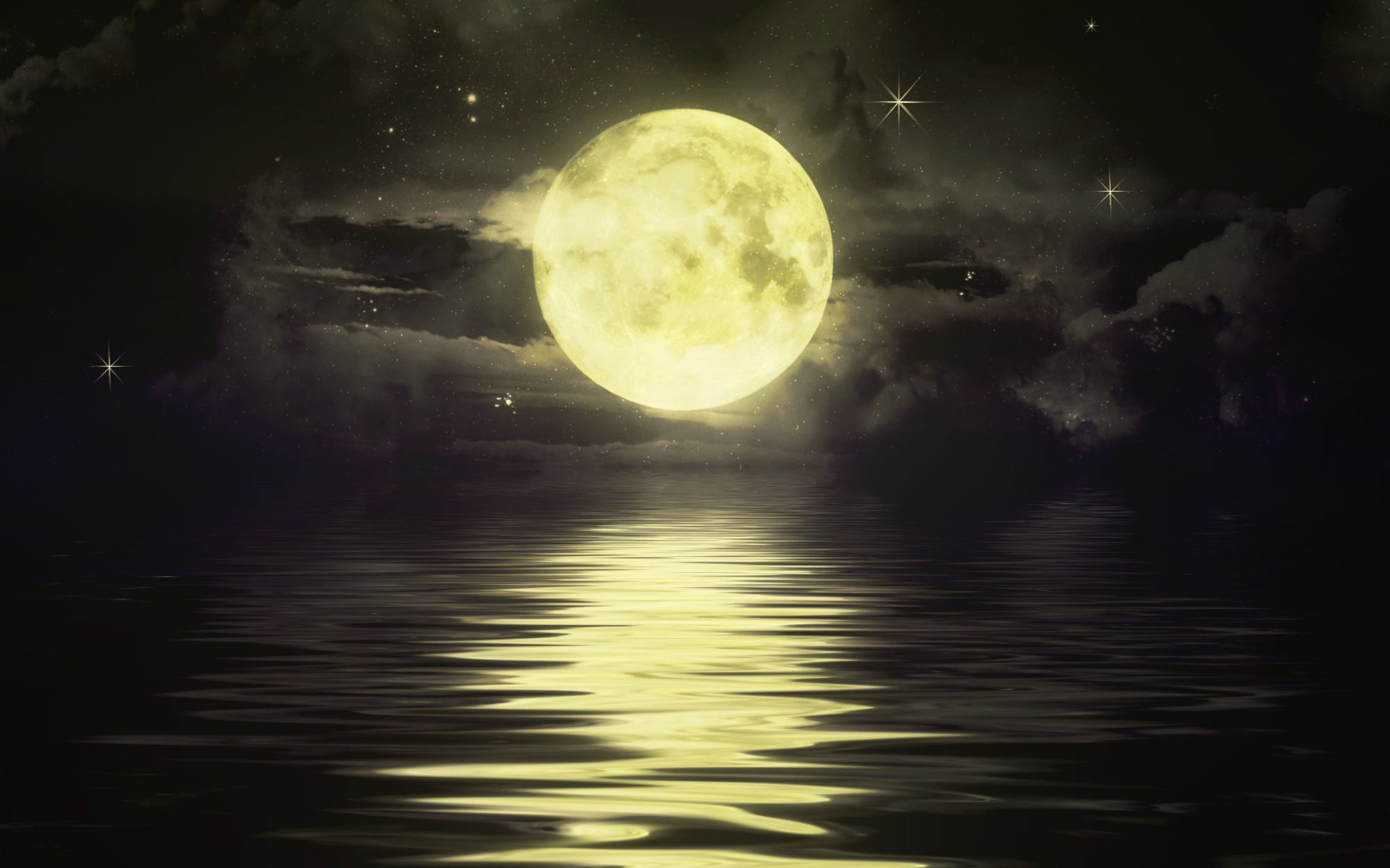 Artistic - Nature  Moonlight Wallpaper
