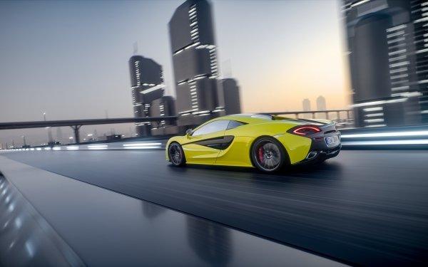 Vehicles McLaren 570S McLaren Car Yellow Car Sport Car Supercar HD Wallpaper | Background Image