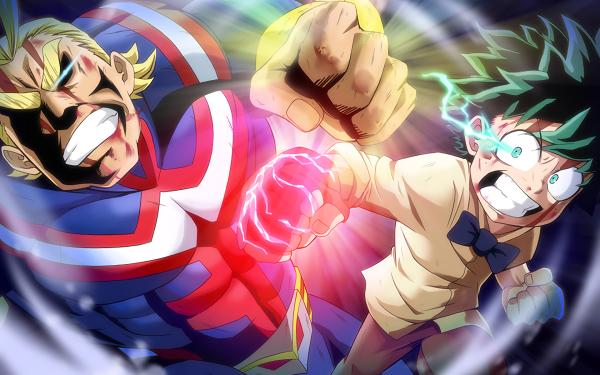 Anime My Hero Academia: Two Heroes My Hero Academia All Might Izuku Midoriya Toshinori Yagi HD Wallpaper | Background Image