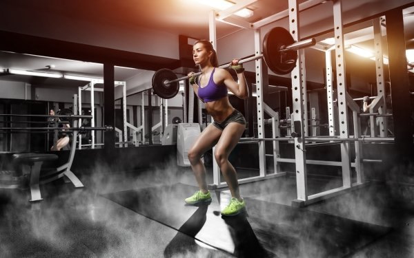 Women Weightlifting Fitness Model Brunette Shorts HD Wallpaper   Background Image