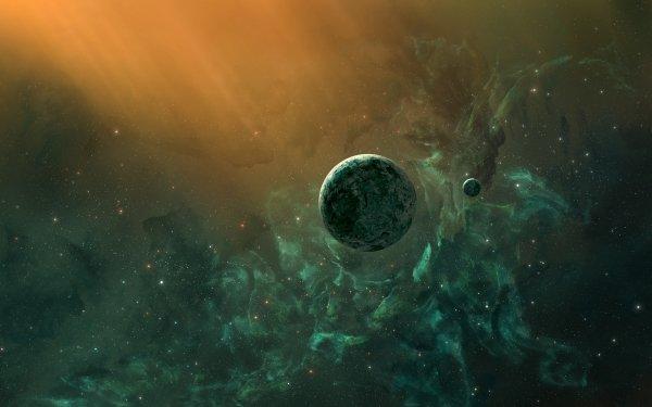 Sci Fi Planet Space Nebula HD Wallpaper   Background Image