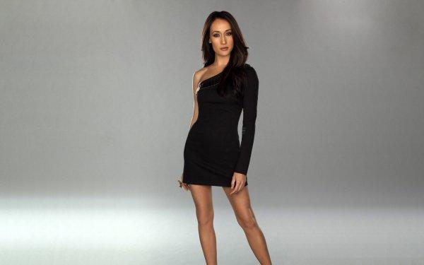 Celebrity Maggie Q Actresses United States Actress Black Dress Brunette HD Wallpaper | Background Image