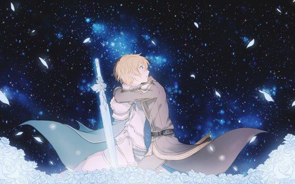 Anime Sword Art Online: Alicization Sword Art Online Eugeo Kirito Kazuto Kirigaya Hug Blue Rose Sword HD Wallpaper | Background Image
