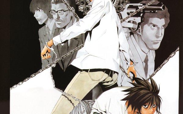 Anime Death Note L Light Yagami Shuichi Aizawa Misa Amane Touta Matsuda Soichiro Yagami HD Wallpaper | Background Image