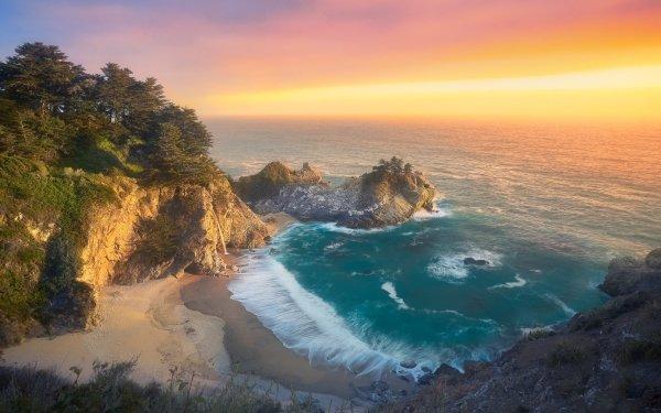 Earth Big Sur California McWay Falls HD Wallpaper   Background Image