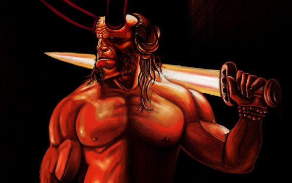 Comics Hellboy Dark Horse Comics Horns Sword Demon HD Wallpaper | Background Image