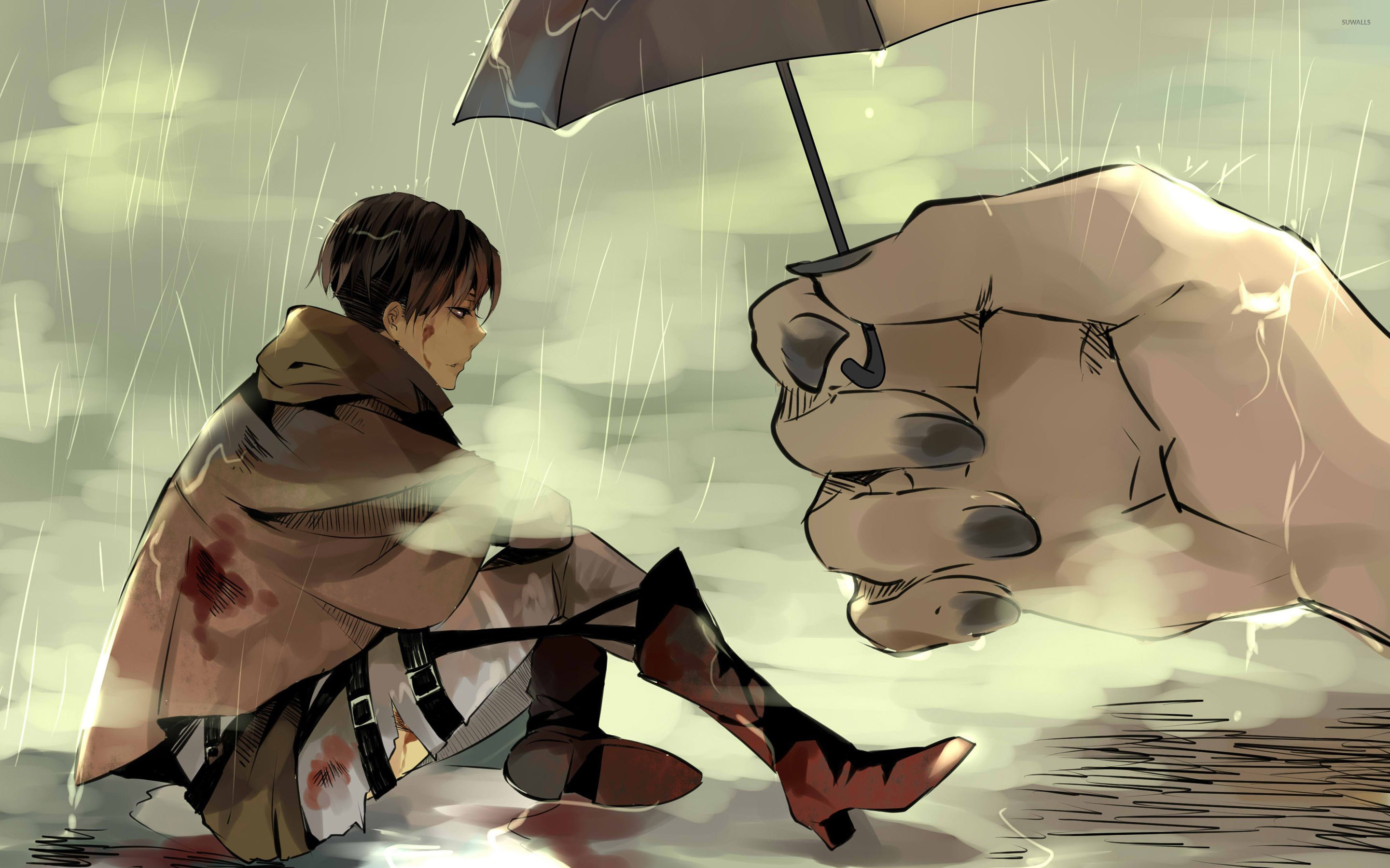 Attack On Titan Hd Wallpaper Background Image 2880x1800 Id 1013910 Wallpaper Abyss