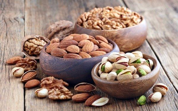 Food Nut Pistachio Almond Walnut HD Wallpaper | Background Image