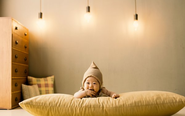 Photography Baby Light Bulb Pillow Cushion HD Wallpaper | Background Image