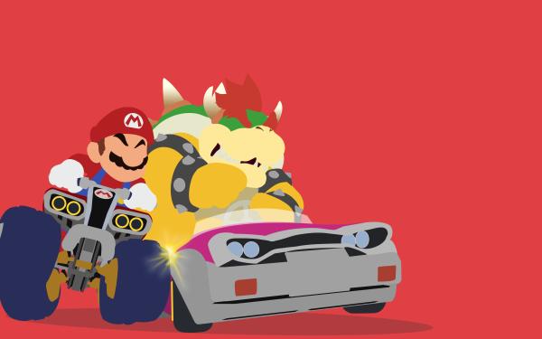Video Game Mario Kart Mario Bowser HD Wallpaper   Background Image