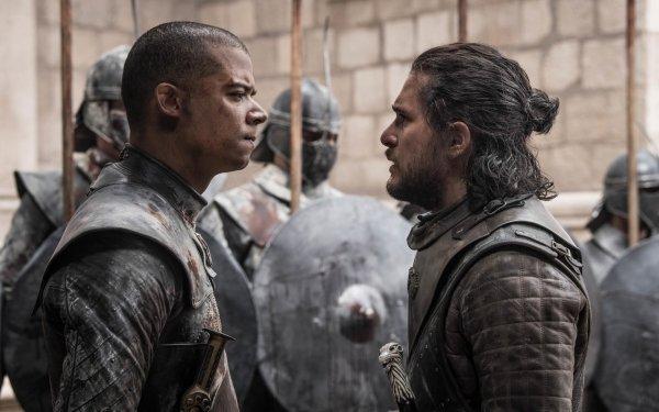 TV Show Game Of Thrones Grey Worm Jacob Anderson Kit Harington Jon Snow HD Wallpaper | Background Image