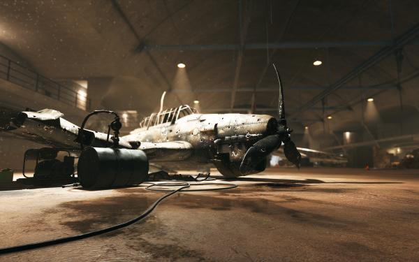 Video Game Battlefield V Battlefield Hangar Airplane Wreck HD Wallpaper | Background Image