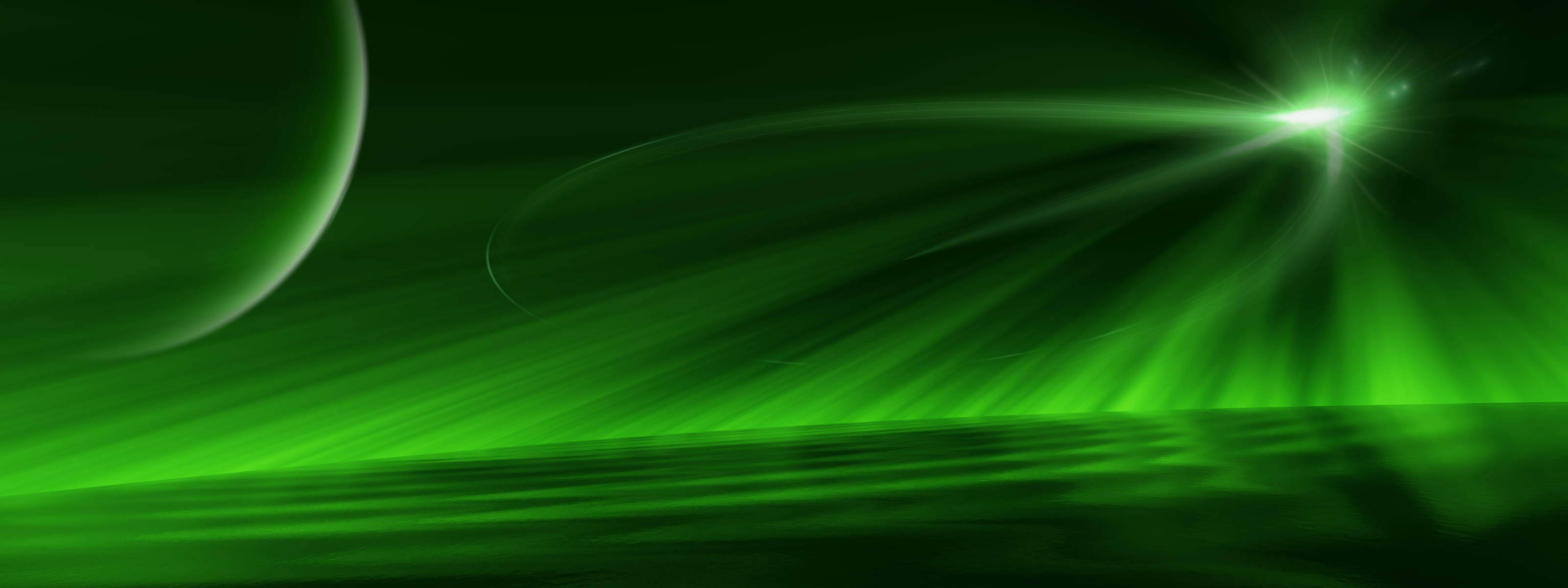 Space full hd wallpaper and background image 3200x1200 - Space wallpaper green ...
