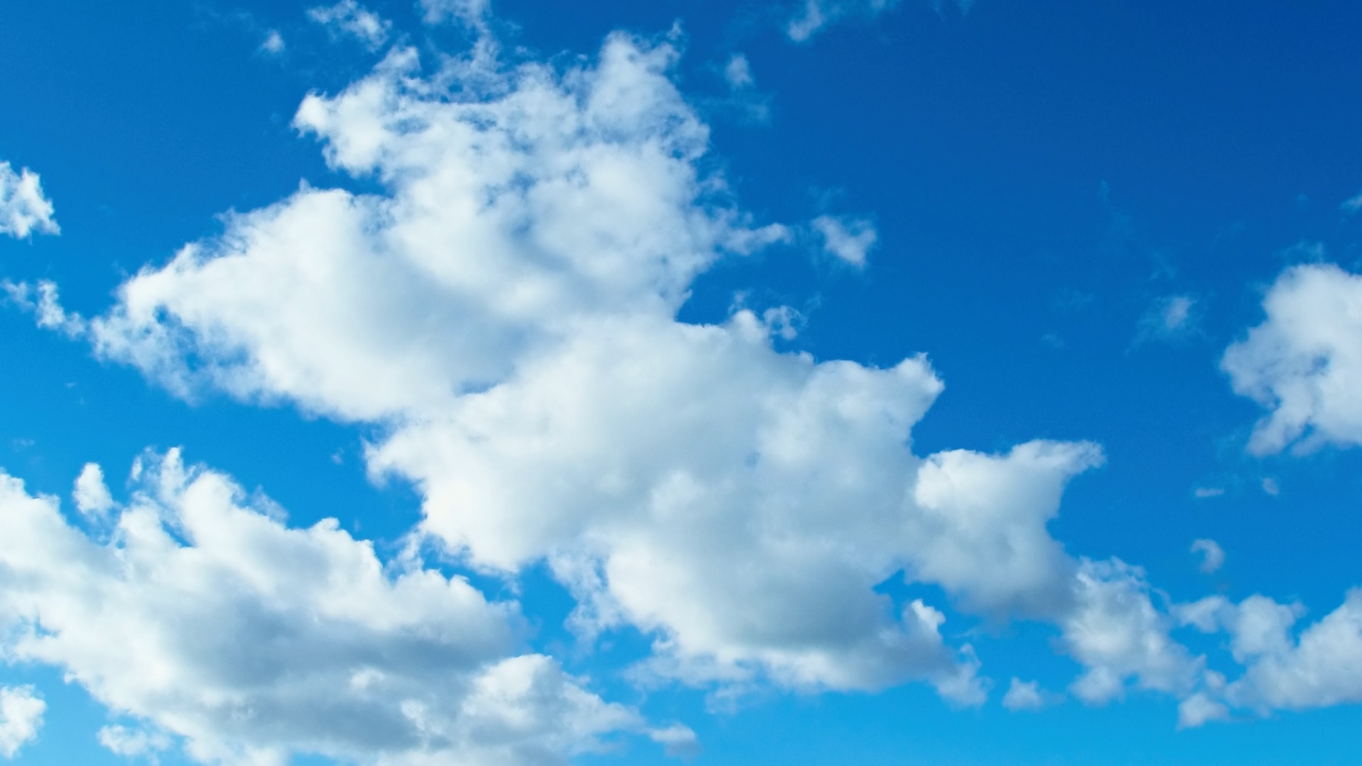 White Puffy Clouds In Blue Sky Hd Wallpaper Background Image