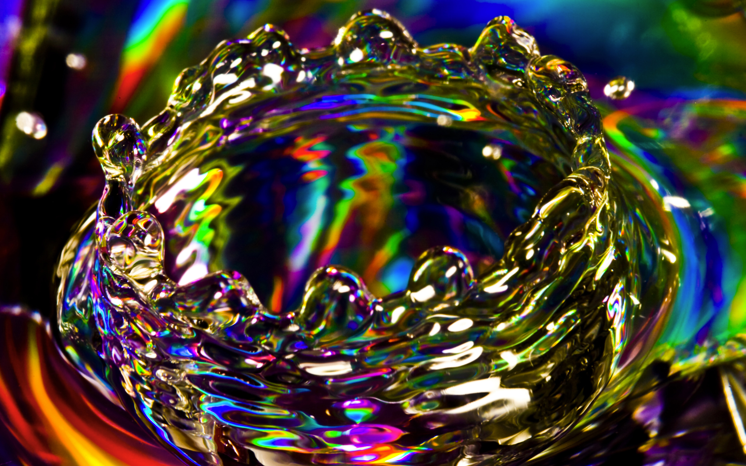 Colorful Splash Full HD Wallpaper And Background Image