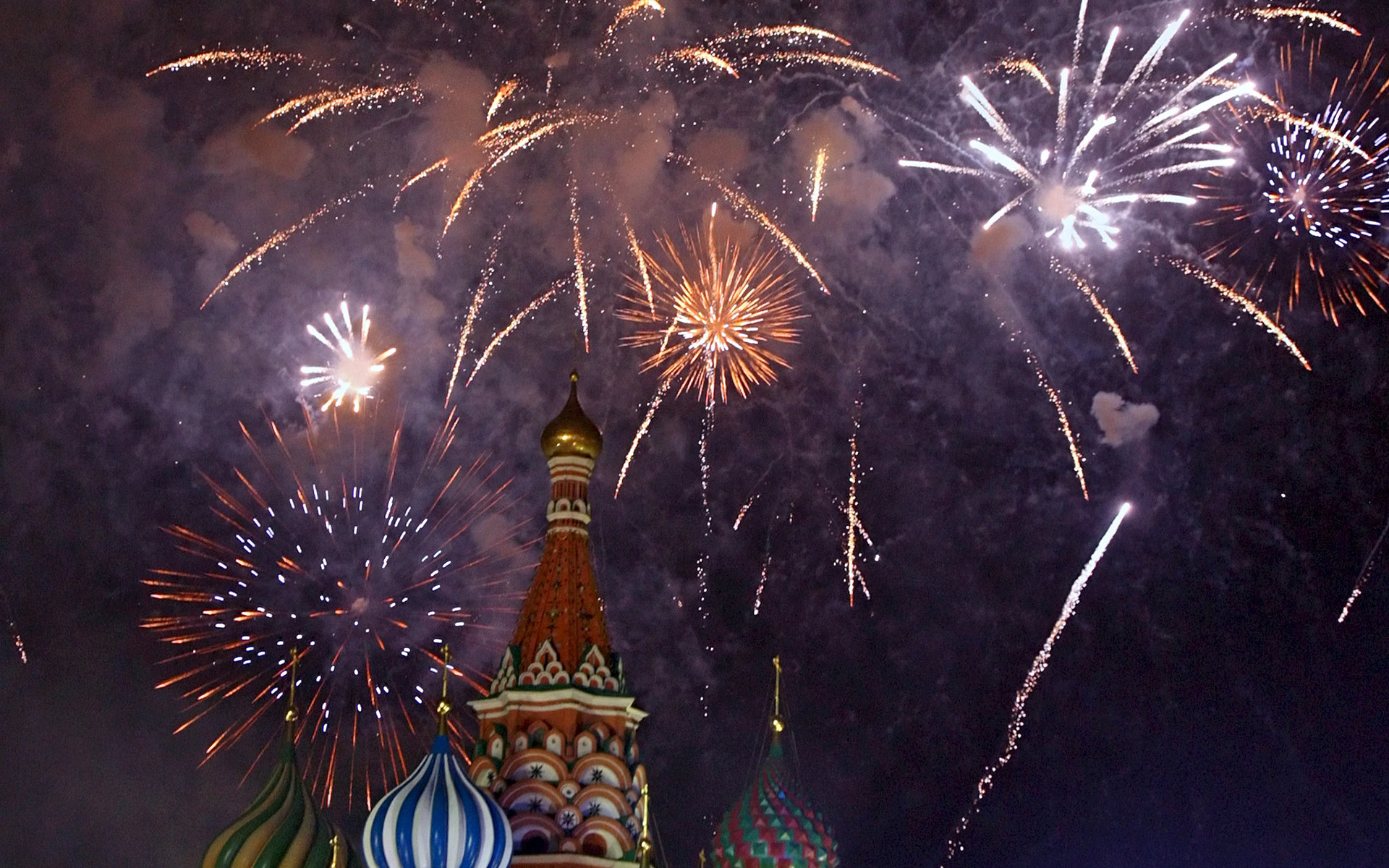 Wallpaper Victory Day Russia Holidays Hd Celebrations: New Year Celebrations At St. Basil's Cathedral, Moscow