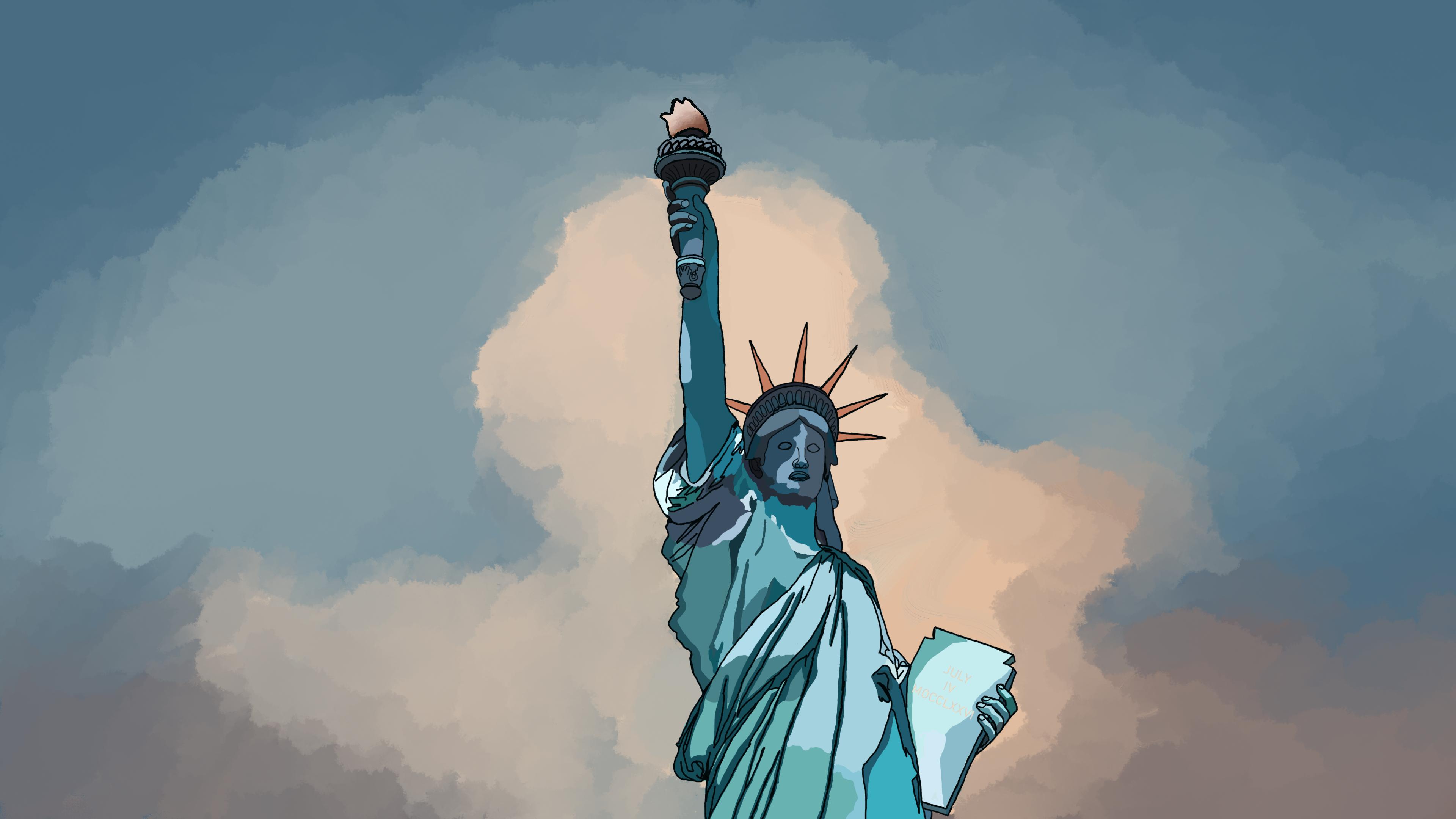 Statue Of Liberty 4k Ultra Fondo De Pantalla Hd Fondo De