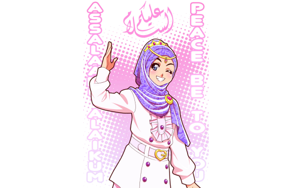 Anime Original Hijab HD Wallpaper | Background Image