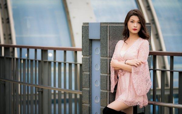 Women Asian Woman Model Brunette Lipstick HD Wallpaper | Background Image