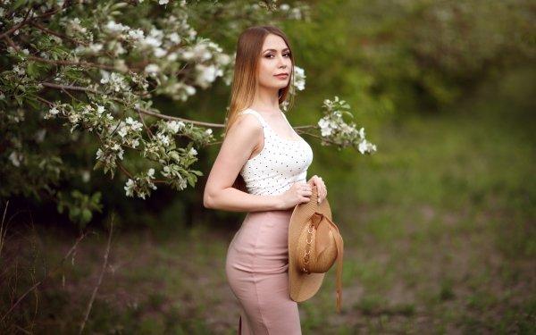 Women Model Models Hat Depth Of Field HD Wallpaper | Background Image