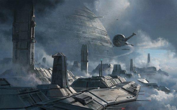Sci Fi City Futuristic Building Vehicle HD Wallpaper   Background Image