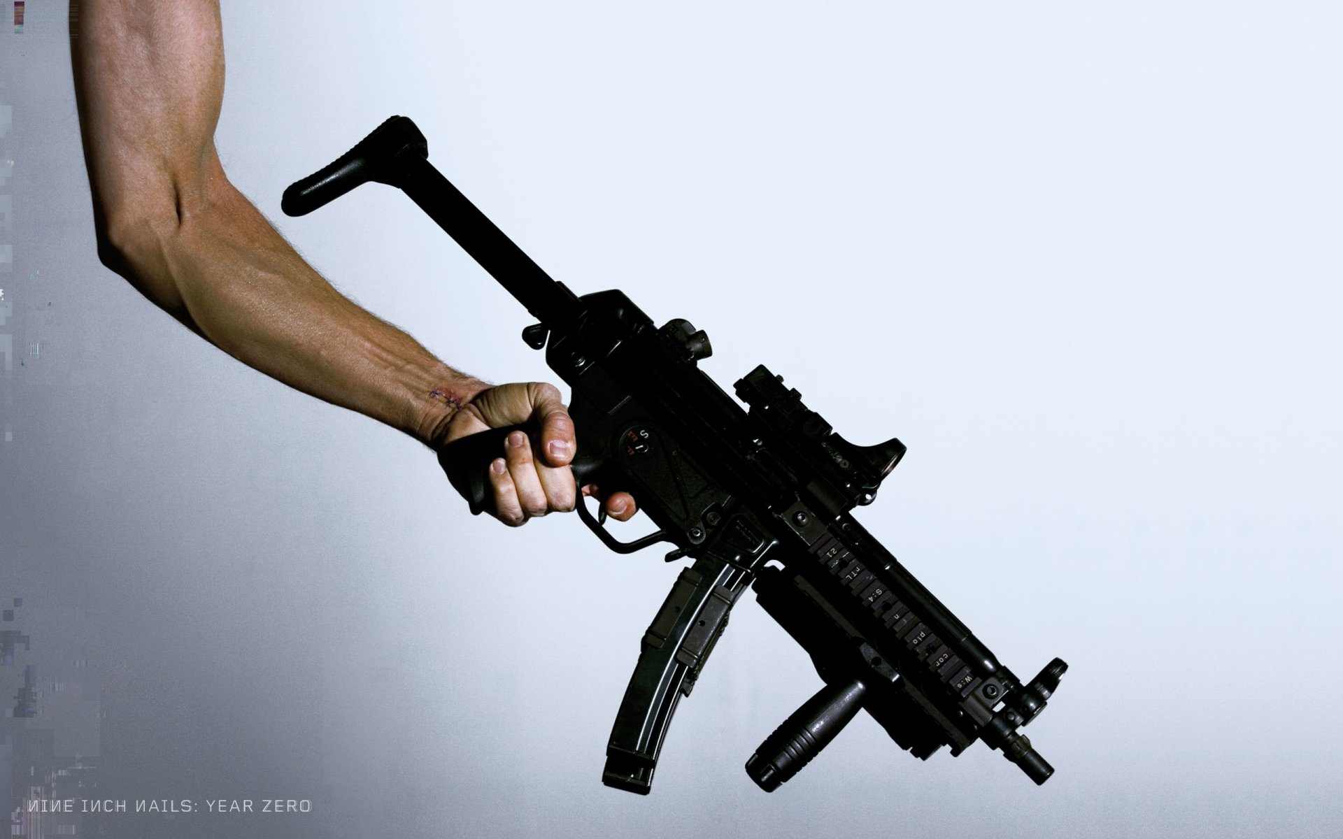Music - Nine Inch Nails  Gun Wallpaper