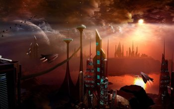 Sciencefiction - Stad Wallpapers and Backgrounds ID : 103237