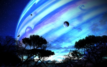 Science-Fiction - Planetenaufgang Wallpapers and Backgrounds ID : 103565