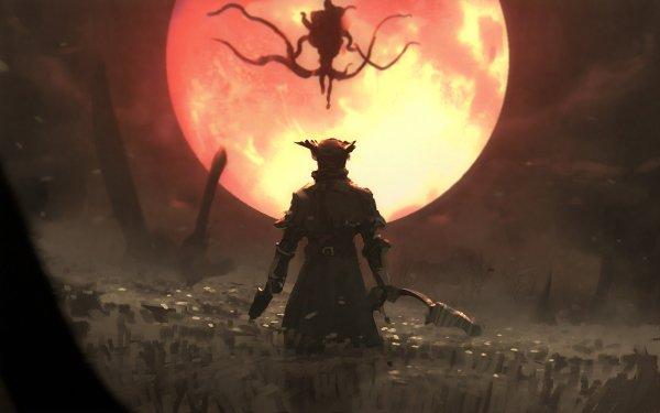 Video Game Bloodborne Blood Moon Warrior HD Wallpaper | Background Image