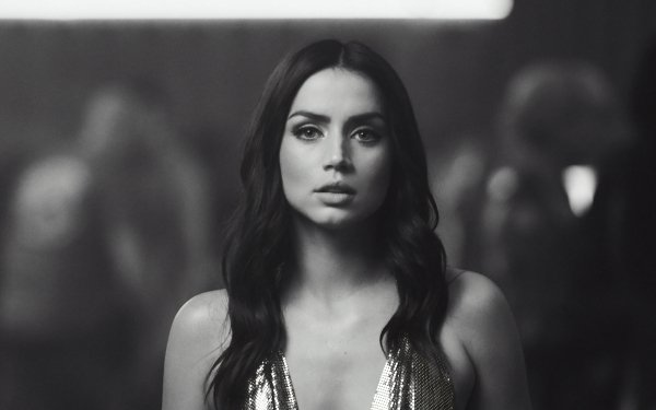 Celebrity Ana de Armas Actresses Monochrome Cuban Actress HD Wallpaper | Background Image