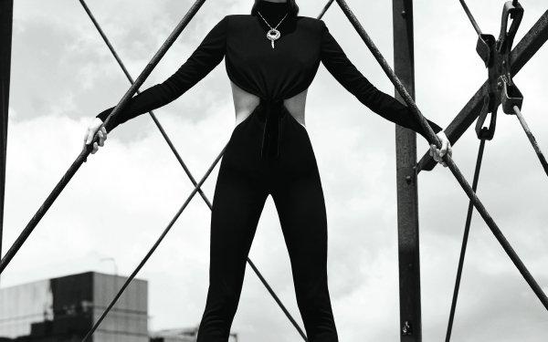 Celebrity Elsa Hosk Models Sweden Swedish Model Monochrome HD Wallpaper   Background Image