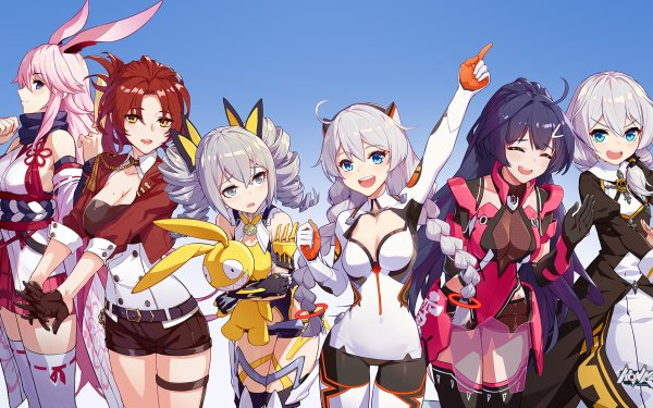 Video Game Honkai Impact 3rd Yae Sakura Murata Himeko Bronya Zaychik Kiana Kaslana Raiden Mei Theresa Apocalypse HD Wallpaper | Background Image