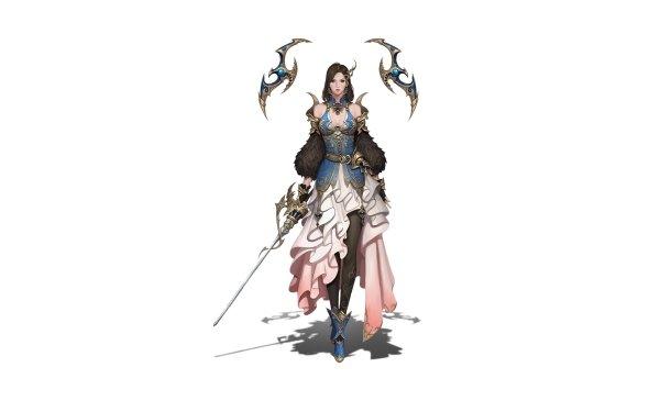 Fantasy Women Warrior Girl Sword Woman Warrior HD Wallpaper   Background Image