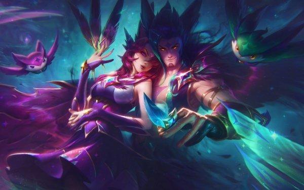 Video Game League Of Legends Xayah Rakan Star Guardians HD Wallpaper | Background Image