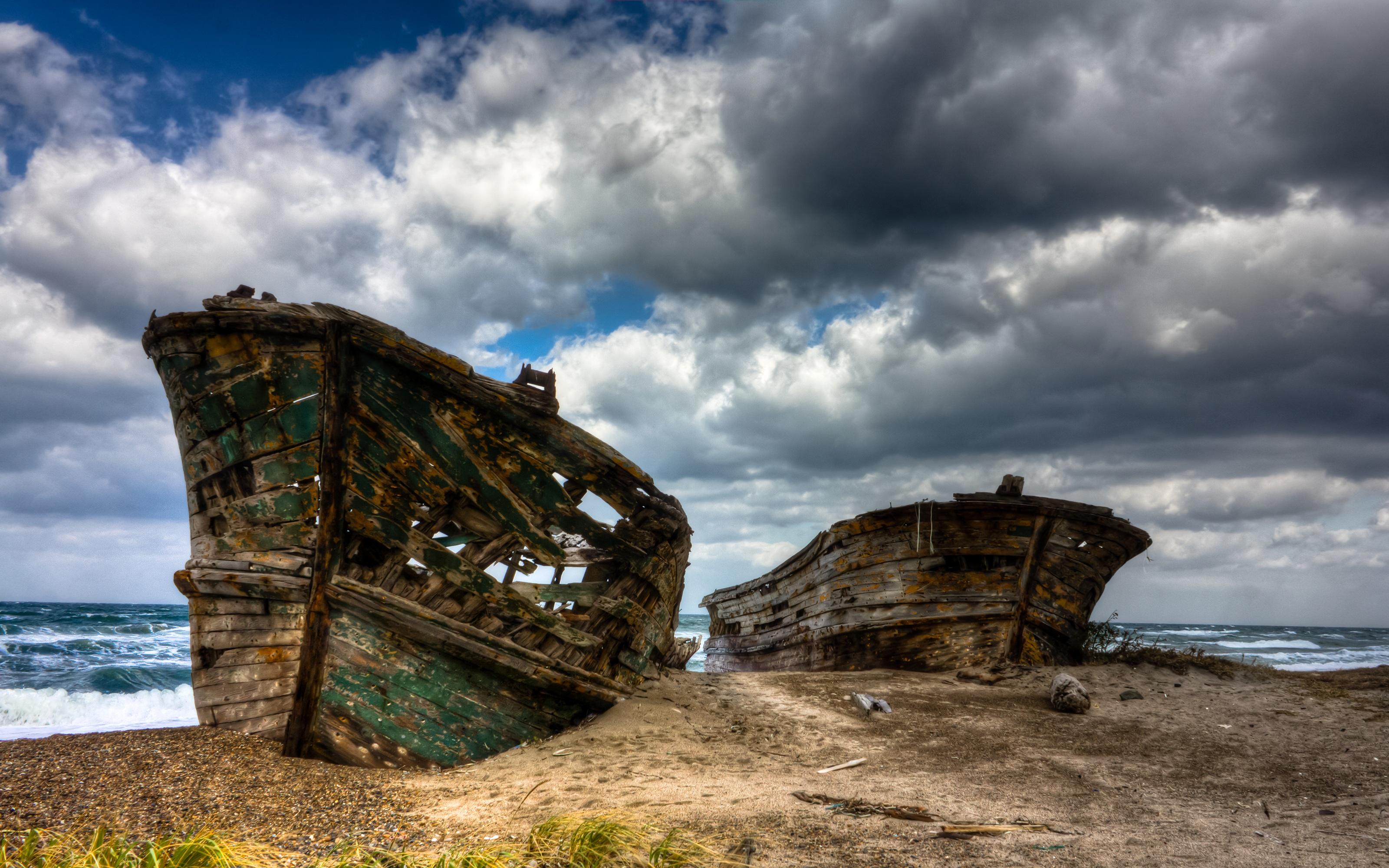 Shipwreck Beach Full HD Wallpaper and Background 3200x2000 ID