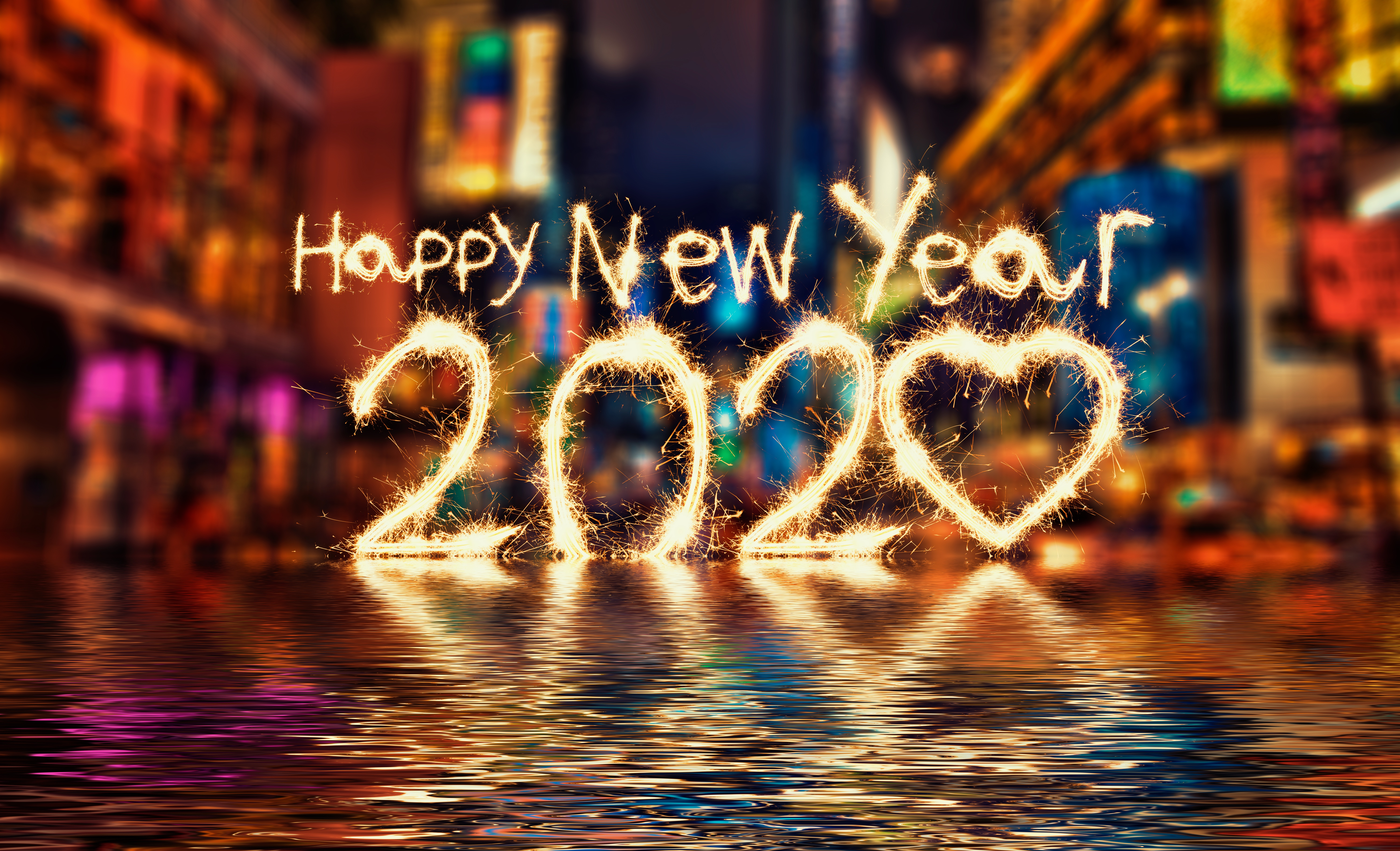 Colorful New Year Wallpaper 5k Retina Ultra Hd Wallpaper