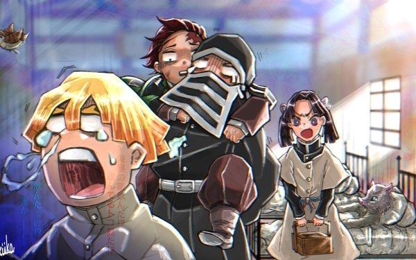 Anime Demon Slayer: Kimetsu no Yaiba Tanjiro Kamado Zenitsu Agatsuma HD Wallpaper | Background Image