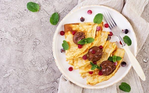 Food Crêpe Breakfast Nutella HD Wallpaper | Background Image