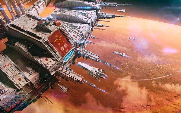 Sci Fi Space Station Futuristic HD Wallpaper | Background Image