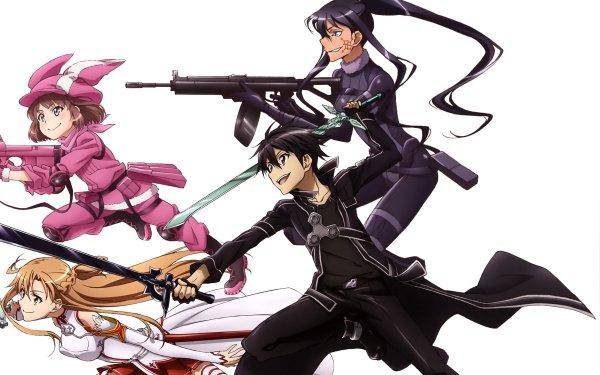 Anime Sword Art Online Alternative: Gun Gale Online Sword Art Online LLENN Asuna Yuuki Kazuto Kirigaya Kirito Karen Kohiruimaki Pitohui Elsa Kanzaki HD Wallpaper   Background Image