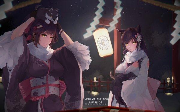 Anime Azur Lane Takao Atago Animal Ears Bilan Hangxian HD Wallpaper | Background Image
