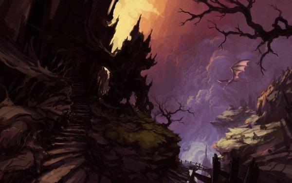 Fantaisie Paysage Dragon Concept Art Fond d'écran HD   Image
