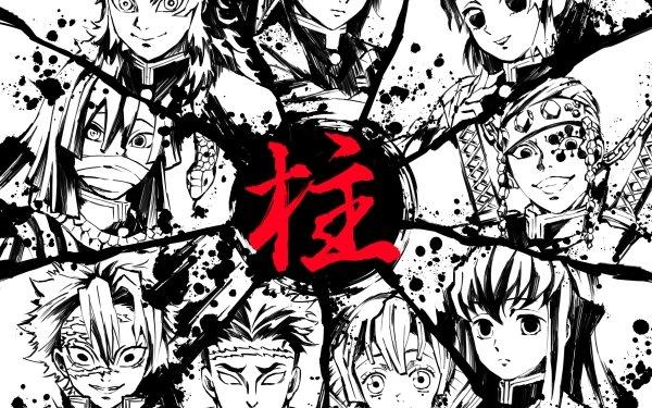 Anime Demon Slayer: Kimetsu no Yaiba Giyuu Tomioka Gyomei Himejima Kyojuro Rengoku Mitsuri Kanroji Muichiro Tokito Obanai Iguro Sanemi Shinazugawa Shinobu Kochou Tengen Uzui Fondo de pantalla HD | Fondo de Escritorio