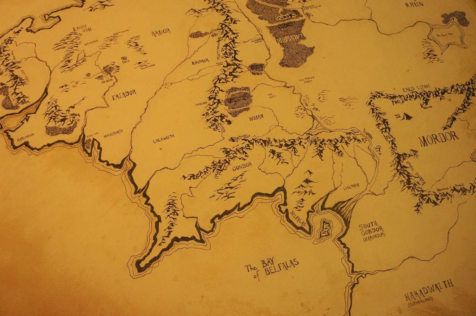 Map Of Middle Earth Papel De Parede Hd Plano De Fundo