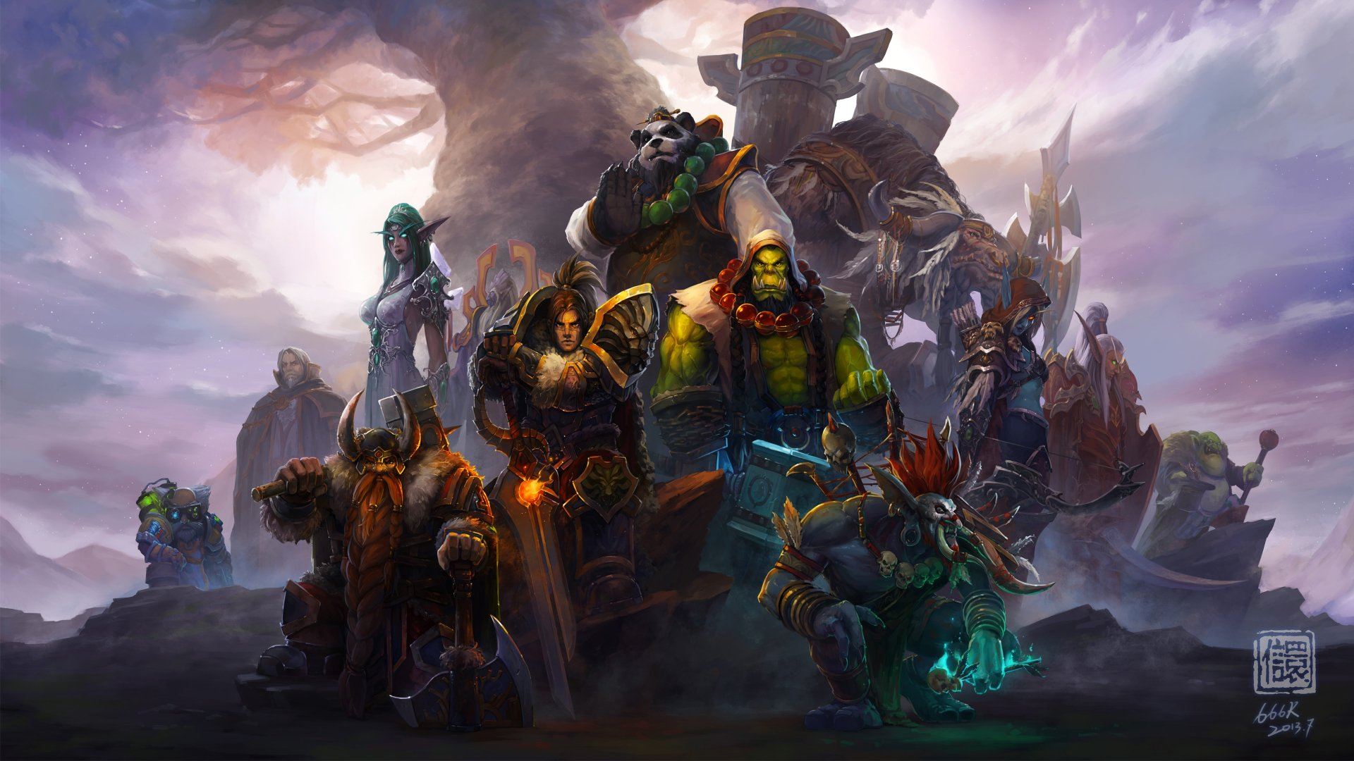 World of warcraft characters 4k Ultra HD Wallpaper ...