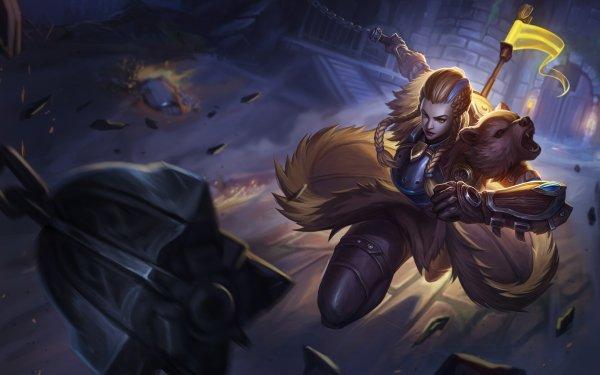 Video Game Overwatch Brigitte Woman Warrior Orange Hair Girl HD Wallpaper   Background Image