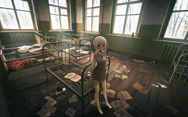 Anime Original Room Abandoned Window HD Wallpaper | Background Image