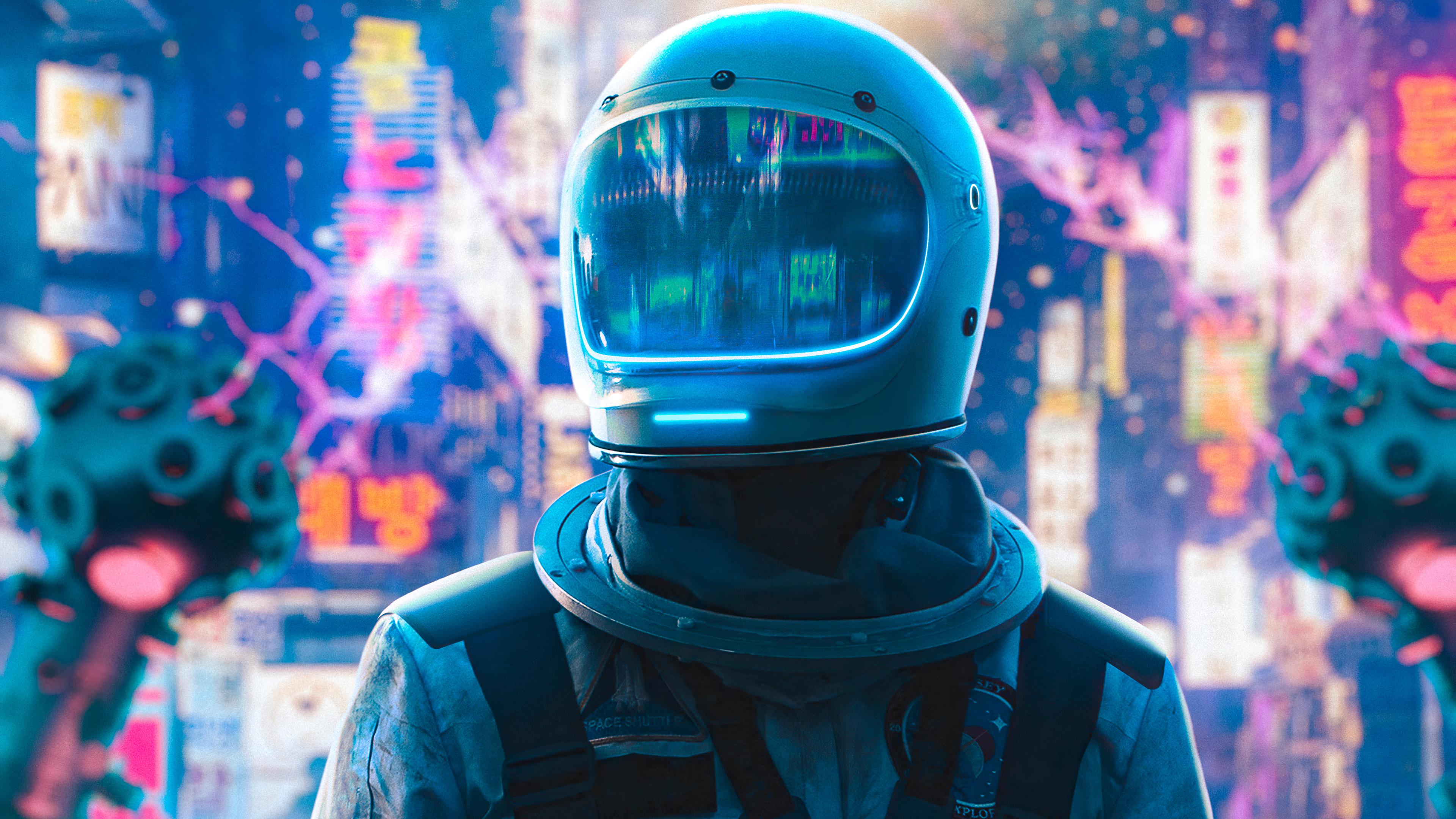 Astronaut 4k Ultra Hd Wallpaper Background Image 3840x2160 Id 1066405 Wallpaper Abyss